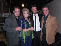 Gloria Loring,Alan Thicke,Robin Thicke. Brennan Thicke, Gloria Loring, Robin Thicke, and Alan Thicke after her Show 'TV Tunez Tonight' at the Henry Fonda Theater royalty free stock image