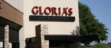 Gloria-` s lateinisches Küche-Restaurant, Dallas Texas Lizenzfreies Stockfoto