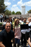 Gloria Trevi entering prision to visit. Royalty Free Stock Photos