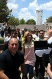 Gloria Trevi entering prision to visit. Royalty Free Stock Photos