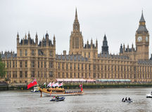 The Gloriana and Big Ben Stock Images