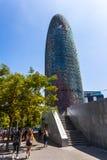 Glorias de Torre, originalmente llamadas Torre Agbar fotografía de archivo libre de regalías