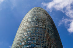 Glorias de Torre, originalmente llamadas Torre Agbar fotos de archivo libres de regalías