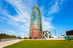 Glorias o Agbar, Barcelona de Torre imágenes de archivo libres de regalías