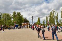 Gloriemonument in Overwinningspark van de stad van Saratov royalty-vrije stock foto