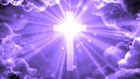 Glorierijk hemels Kruis royalty-vrije illustratie