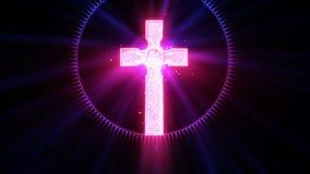 Glorierijk hemels Kruis stock illustratie