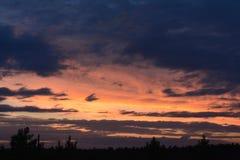 Glorierijke Zonsondergang Royalty-vrije Stock Afbeelding