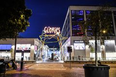 Glories Mall. A night time photo of the Glories mall in Barcelona Spain Stock Images