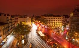 Glorieta de Bilbao, Madrid por noche Foto de archivo