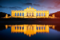 Gloriette em jardins do palácio de Schoenbrunn, Viena, Áustria Fotos de Stock