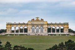 Gloriette em terras do castelo de Schönbrunn Fotos de Stock