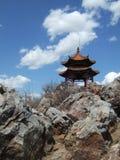 Gloriette em uma montanha Fotos de Stock Royalty Free