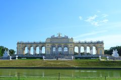 Gloriette monument in Schonbrunn Palace Stock Image