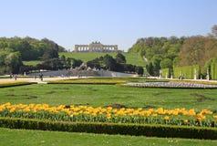 Gloriette nel giardino del palazzo di Schonbrunn, Vienna, Austria immagini stock libere da diritti