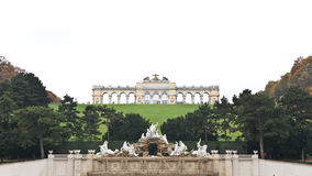 Gloriette and Neptune Fountain at Schonbrunn Palace in Vienna, A Royalty Free Stock Image
