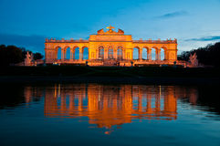 Gloriette at night Royalty Free Stock Image