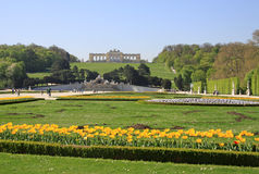 Gloriette no jardim do palácio de Schonbrunn, Viena, Áustria Imagens de Stock Royalty Free