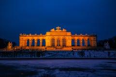 Gloriette på slottträdgården av Schönbrunn Wien Arkivbilder
