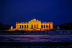 Gloriette på slottträdgården av Schönbrunn Wien Fotografering för Bildbyråer