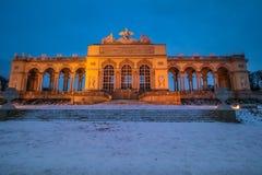 Gloriette på slottträdgården av Schönbrunn Wien Royaltyfri Fotografi
