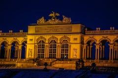 Gloriette på slottträdgården av Schönbrunn Wien Arkivfoto