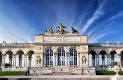 Gloriette pavilion in Vienna Royalty Free Stock Images