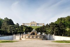 Gloriette pavilion in Vienna Royalty Free Stock Photography
