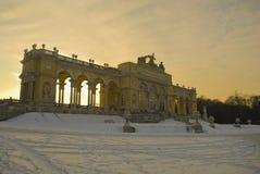 Gloriette, Schoenbrunn Palace, Vienna. Gloriette in a Schoenbrunn Palace park at sunset, Vienna, Austria Royalty Free Stock Image