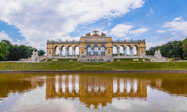 Gloriette Reflection in Schonbrunn Palace Garden, Vienna royalty free stock images
