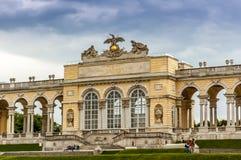 Gloriette在Schonbrunn 库存照片