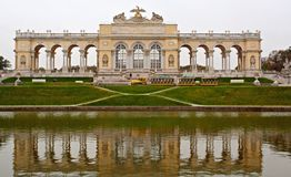 Gloriette, Schonbrunn complex, Vienna. The Early Classicistic colonnaded Gloriette, Schonbrunn complex, Vienna Stock Photos