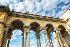Gloriette in the Schonbrunn garden. Beautiful Gloriette in the Schonbrunn garden Royalty Free Stock Photo