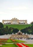 Gloriette Schonbrunn i Wien på solnedgången Royaltyfria Bilder