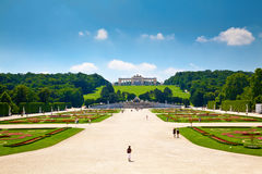 Gloriette and Schonbrunn Palace Garden Royalty Free Stock Images