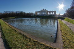 Gloriette in the Schonbrunn Palace Garden - attraction in Vienna, Austria Stock Photo