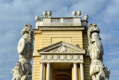 Gloriette in Schonbrunn Palace Garden in Vienna, Austria is built in 1775 as a temple of renown Stock Photography