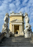 Gloriette in Schonbrunn Palace Garden in Vienna, Austria is built in 1775 as a temple of renown. VIENNA, AUSTRIA - DEZEMBER 1, 2012:Gloriette in Schonbrunn Royalty Free Stock Photo