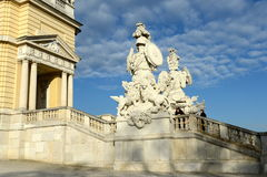 Gloriette in Schonbrunn Palace Garden in Vienna, Austria is built in 1775 as a temple of renown. VIENNA, AUSTRIA - DEZEMBER 1, 2012:Gloriette in Schonbrunn Stock Photos