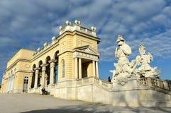 Gloriette in Schonbrunn Palace Garden in Vienna, Austria is built in 1775 as a temple of renown. VIENNA, AUSTRIA - DEZEMBER 1, 2012:Gloriette in Schonbrunn Stock Photo