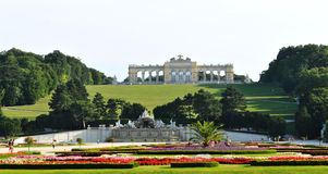 Gloriette, Schonbrunn Palace in Vienna Stock Photos