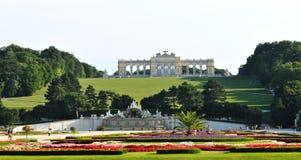 Gloriette, Schonbrunn Palace in Vienna stock photos