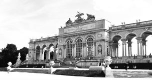 Gloriette at Schonbrunn, Vienna (Austria). Vienna, Austria - July 9, 2011: Monochromatic panorama of Gloriette, important landmark in Schonbrunn architectural Royalty Free Stock Photo