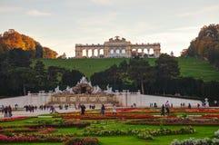 Gloriette Schonbrunn in Wenen bij zonsondergang Royalty-vrije Stock Fotografie