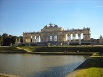 Gloriette in Schonbrunn, Wien stockbild