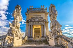 Gloriette structure in Schonbrunn Palace in Vienna Stock Photography