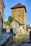 Gloriette torn i Arbois Arkivfoton