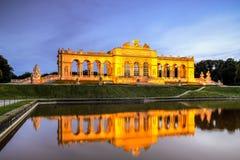 Gloriette, Vienna. The Gloriette monument in the back courtyard off Schonbrunn Palace in Vienna, Austria Stock Photo