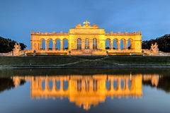 Gloriette, Vienna. The Gloriette monument in the  back courtyard of Schoenbrunn Palace in Vienna, Austria Royalty Free Stock Photos
