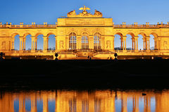 Gloriette Vienna At Night Royalty Free Stock Photos